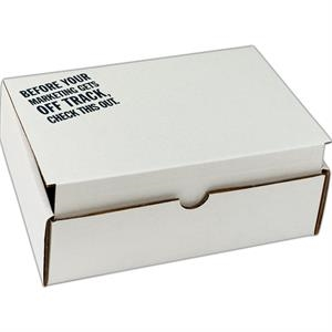 "1 Color Full Coverage - B-flute Corrugated Tuck Box With Inside Tuck Closure, 9"" X 6 1/25"" X 2 3/4"""
