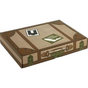 "1 Color Full Coverage - B-flute Corrugated Tuck Box With Inside Tuck Closure, 12 1/4"" X 9 1/4"" X 2"""