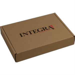 "1 Color Full Coverage - B-flute Corrugated Tuck Box With Outside Tuck Closure, 12 1/4"" X 9 1/2"" X 2"""