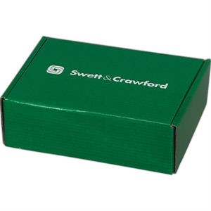 "Addition Of Spot Mount Label - B-flute Corrugated Tuck Box With Outside Tuck Closure, 12 1/4"" X 9 1/2"" X 4"""