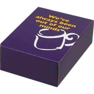 "Addition Of Spot Mount Label - E-flute Tuck Box And Is Stocked, 4"" X 6 1/2"" X 2"""