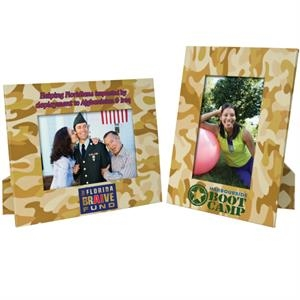"Camouflage Designs Paper Easel Frame, Holds Either A 4"" X 6"" Or 5"" X 7"" Photo"