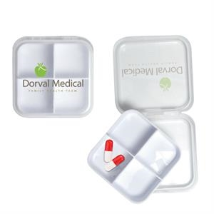 Removable Four Compartment Pill Box