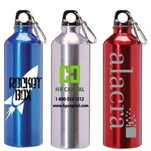 25 Oz. Aluminum Water Bottle With Screw On Cap