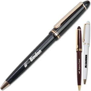 Executive's Choice Targetline - Plastic Ballpoint Pen With Gold Trim