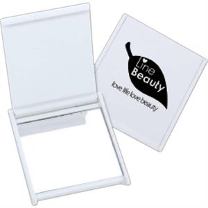Targetline - Full Color Process - White Square Mirror
