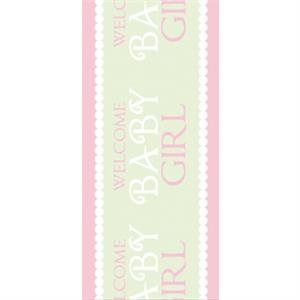 Tapetastic (r) - Baby Girl - Repositionable Designer Tape. Acid Free And Photo Friendly