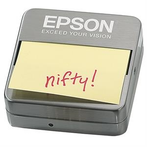 Executive Series - Note Holder - Pop-up Sticky Note Pad Holder. Brushed Metal Finish