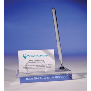 Card Holder Pen Stand By Crystal World