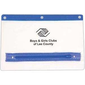 Blue Zipper/trim - Pencil Pouch, 9""