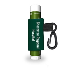Green Tea - Citrus Lip Balm With Custom Leash And Label, Spf 15 Protection