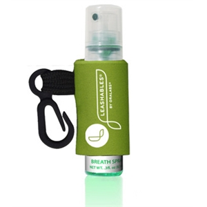 Ice Drops (r) - Spearmint - Flavored Breath Spray With Pump Bottle And Custom Leash And Label