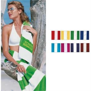 Turkish Signature (tm) - Blank - Heavyweight Horizontal Cabana Stripe Beach Towel