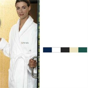 "Cabana Bay (tm) Turkish Signature (tm) - Embroidered - Shawl Collar Robe. 48"" Long. 100% Terry Velour"