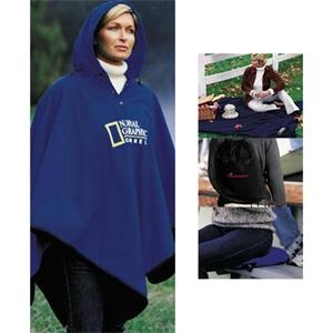 4-in-1 (tm) - Blank - Blanket, Poncho, Seat Cushion And Backpack