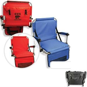 Stadium Chair With Multiple Pockets On Front And Back