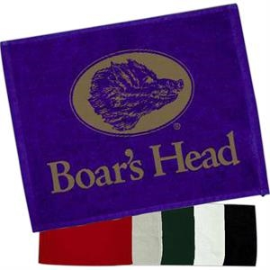 "Colored; 1.25# - Hemmed Velour Rally Towel, Measures 15"" X 18"""