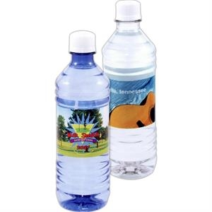 5 Working Days - Blue - Bottled Water Full Color Label, 16.9 Oz