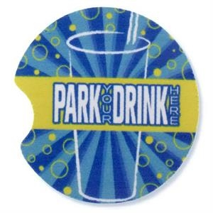 "2 Working Days - Full Color Automotive Cup Holder Coaster, 2 1/2"" Dia. X 1/4"""