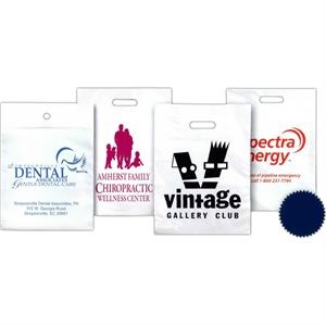 "18"" X 22"" - Low Minimum, Low Density Polyethylene Plastic Patch Handle Bag With 4"" Gusset"