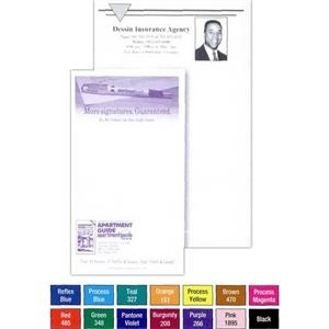"25 - Sheet Note Pad. - Custom Printed 4 1/4"" X 11"" Note Pad Of 15 Lb. Bond"