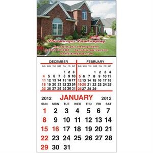 "Standard Shape Magnet With 12 Month Calendar Pad, 3"" X 5 3/4"""