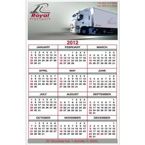 "5 1/2"" X 8 1/2"" - Calendar Card With Full Color Imprint And Clear Coated On One Side"