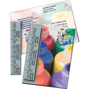"Mailer, 5"" X 7"", With 15 Mil Plastic 6"" Ruler. Standard Stock: 10pt. Card"
