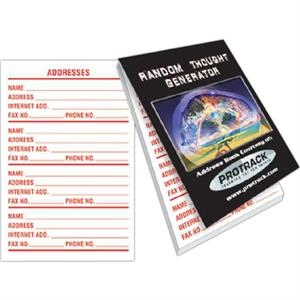 "Address Book With 25 Sheets, 2 5/8"" X 3 7/8"""