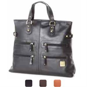 Zip Pocket Tote/shoulder Bag With Handles