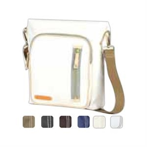 Carina - Coated Canvas Square Pocket Crossbody Tote Bag