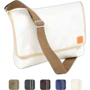 Carina - Coated Canvas Ipad Messenger Tote Bag