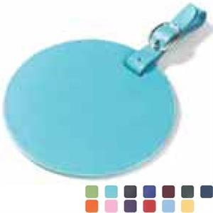 Clava(r) - Round, Colored Leather, Oversized Luggage Tag With Large Decorating Area