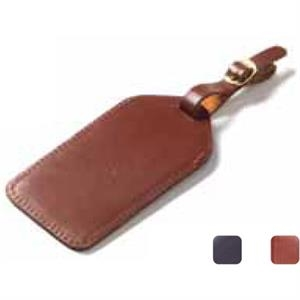 Bridle - Gorgeous Thick Belting Leather Luggage Tag With C-shaped Privacy Flap