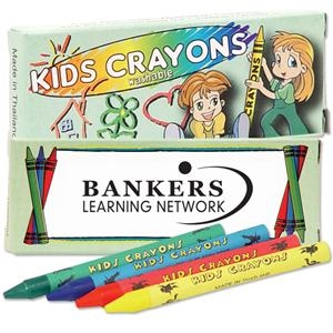 Four Pack Of Washable Crayons. Blank