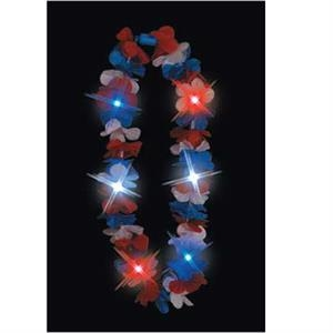 Red White and Blue light up Hawaiian Lei