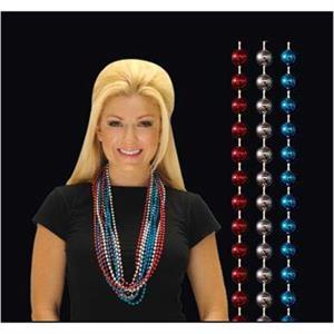 Red/white/blue round beads