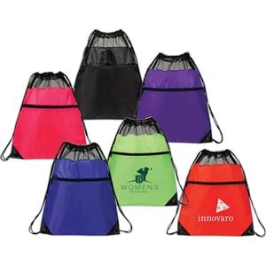 Drawstring Backpack Made From 210 Denier Mesh