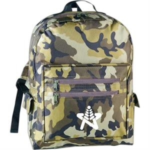 Sierra - Backpack With Camouflage Design Made Of 600 Denier Polyester And Pvc Backing