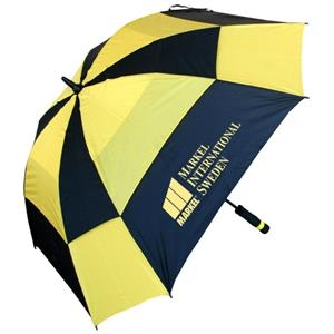 "Square Golf Umbrella With 60"" Arc, Fiberglass Shaft And Matching Sleeve"