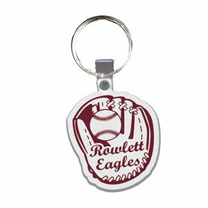 Baseball Mitt - Soft Plastic Key Tag