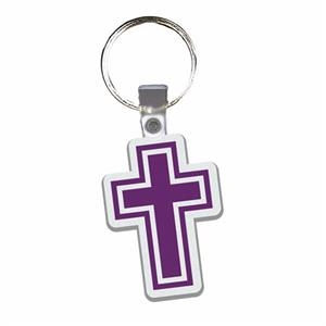 Cross - Soft Plastic Key Tag