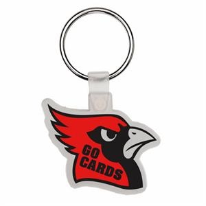 Cardinal Head - Soft Plastic Key Tag