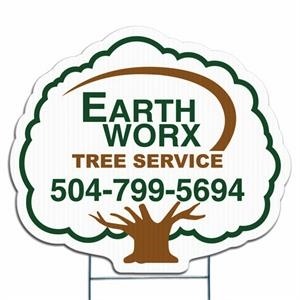 Tree - Die Cut Yard Sign, Weather Resistant, 4mm Corrugated Vinyl