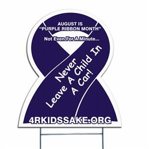 Awareness Ribbon - Die Cut Yard Sign, Weather Resistant, 4mm Corrugated Vinyl