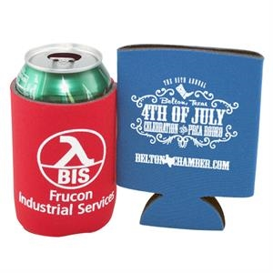 Custom Coolie (r) - Patented Collapsible Beverage Insulator, Sleeve Type Beverage Holder