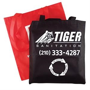 "Convention - Non Woven Tote With 28"" Handles, 15"" X 16"". 5-day Quickship"