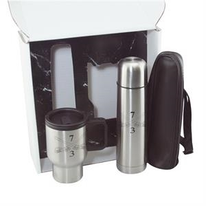 Stainless Steel Thermos And Travel Coffee Mug Gift Set