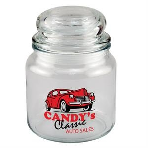 Country Kitchen - Apothecary Style Candy Jar, 16 Oz. With Bubble Lid. 5-day