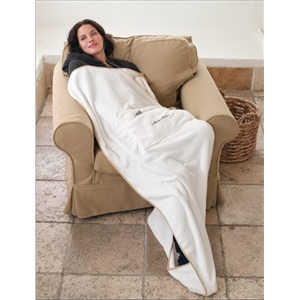 Travel Pillow Blanket (tm) - Blank - Pillow Opens Into Full Size Blanket With Protective Travel Bag